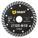 Диск алмазный GRAFF 125х10х2.5х22.23 мм GDD 17 125.10