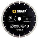 Диск алмазный GRAFF 230х10х2.6х22.23 мм GDD 18 230.10