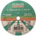 Диск отрезной HiKOKI-Луга по металлу А41 (14А) A 36 S BF 230х2,0х22,2