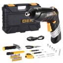 Аккумуляторная отвертка DEKO DKS4FU-Li в кейсе с набором инструментов (36 предм.)