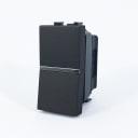 Выключатель встраиваемый ABB Zenit 1 клавиша, 1 модуль, цвет антрацит
