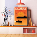 Постер в раме ПростоПостер Стамбул 447588784575, 50х70 см