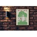 Постер в раме ПростоПостер Hiking 587064904372, 60х90 см