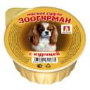 Влажный корм для собак ЗООГУРМАН «Мясное суфле», с курицей, 100г