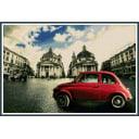 Алмазная мозаика ArtXobby Красная машина в центре Рима АМ018