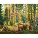 Картина по номерам на холсте Белоснежка Хранители леса 228-AB