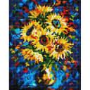 Алмазная мозаика Белоснежка Ночные подсолнухи 003-ST-PS