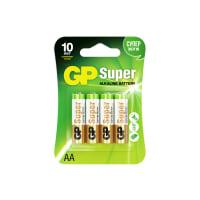 Батарейка алкалиновая GP AA 15А, 4 шт.