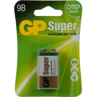 Батарейка алкалиновая крона GP 1604A, 9 В, 1 шт.