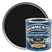 Краска гладкая Hammerite цвет чёрный 0.75 л