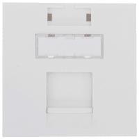 Накладка для розетки телефонной и компьютерной LK Studio LK45 RJ 45х45 мм, цвет белый