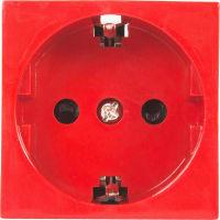 Розетка для кабель-канала LK Studio, LK45 с заземлением, со шторками, цвет красный