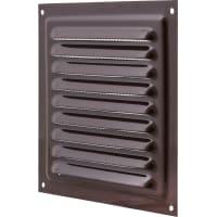 Решетка вентиляционная с сеткой Вентс МВМ 150 с, 150х150 мм, цвет коричневый