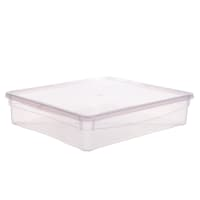 Ящик универсальный 33.5х8.5x40 см, 9 л, пластик цвет прозрачный