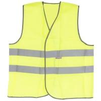 Жилет сигнальный для водителя размера 56-58, полиэфир, цвет лимонный