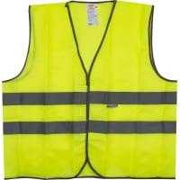 Жилет сигнальный для водителя размера 60-62, полиэфир, цвет лимонный