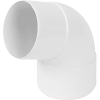 Отвод на 67° для трубы 80 мм цвет белый