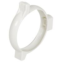 Хомут для водосточной трубы 80 мм цвет белый
