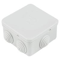 Коробка распределительная Экопласт 85х85х40 мм цвет серый, IP44