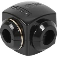 Сжим ответвительный У-733, 35/10 кв.мм, поликарбонат, цвет чёрный, IP20