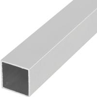 Труба квадратная 25х1.5х1000 мм, алюминий, цвет серебро