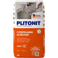 Раствор для кладки огнеупорных кирпичей Плитонит СуперКамин ОгнеУпор, 20 кг