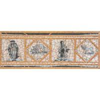 Вставка-подступенник Gresan Natural Cadaques Azul 12х33 см клинкер с рисунком