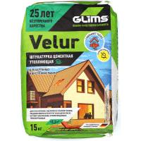 Штукатурка цементная Glims VeluR 15 кг