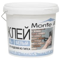 Клей для изделий из гипса Monte Alba, 4 кг