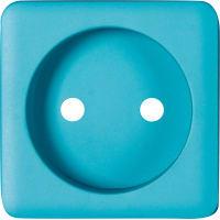 Накладка для розетки без заземления Lexman Cosy, цвет бирюзовый