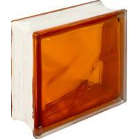 Стеклоблок Богема Волна цвет ярко-оранжевый