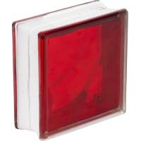 Стеклоблок Богема Волна цвет ярко-рубиновый