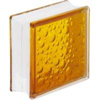 Стеклоблок Богема Савона цвет ярко-медовый