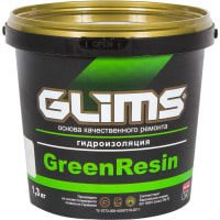 Герметик эластичный Glims GreenResin, 1.3 кг