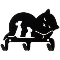 Крючок трёхрожковый DuckandDog «Кошка», сталь, матовый чёрный