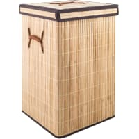 Корзина для белья складная квадратная, 45 л, бамбук