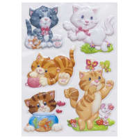 Наклейка 3D «Котята» POA 1006
