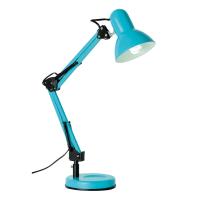 Настольная лампа Inspire Ennis 1xE27х40 Вт, металл/пластик, цвет голубой
