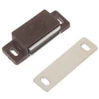 Защёлка магнитная Amig Модель 5, 46х15 мм, пластик, цвет коричневый