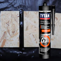 Герметик каучуковый кровельный чёрный Tytan Professional, 310 мл