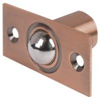 Защелка шариковая Apecs R-0001, 21х19 мм, сталь, цвет старая медь