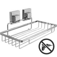 Полка для ванной комнаты Sensea «Smart Lock» на присоске металл