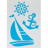 Трафарет самоклеящийся «Яхта» 25х35 см