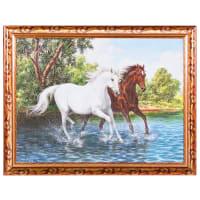 Постер в раме «Две лошади» 30х40 см