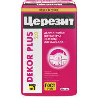 Штукатурка цементная декоративная Ceresit Dekor Plus короед 3.0 25 кг