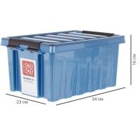 Контейнер Rox Box с крышкой 8 л синий