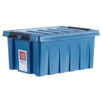 Контейнер Rox Box с крышкой 30x19x40 см, 16 л, пластик цвет синий