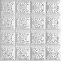 Плитка потолочная бесшовная полистирол белая Формат Сириус 50 x 50 см 2 м²
