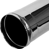 Дымоход 135х05 мм 1 м нержавеющая сталь