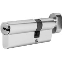 Цилиндр Standers 80, 30x50 мм, ключ-вертушка, цвет хром